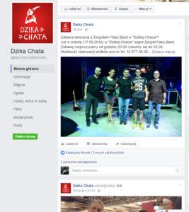 Paka Band w Dzikiej Chacie - 17. 09. 2016