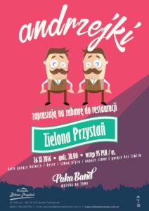 Paka Band - Andrzejki, Zielona Przystań, 26 11 2016 (plakat)