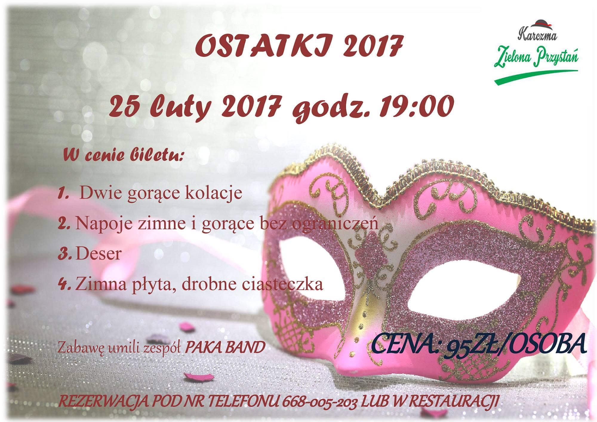 Ostatki 2017, Zielona Przystań, Paka Band
